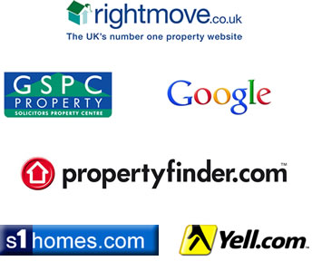 Find upforlet in rightmove, GSPC, Google, propertyfinder.com, yell and s1homes